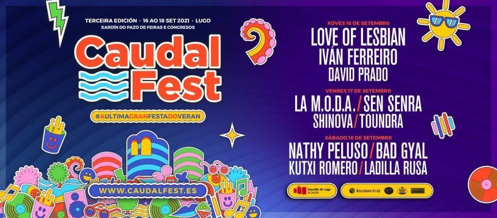 Cartel oficial del Caudal Fest 2021