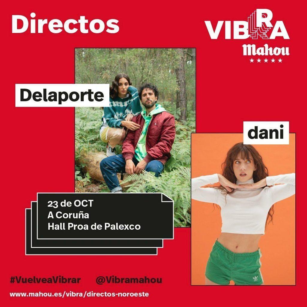 Cartel oficial de Delaporte + Dani en Coruña el 23 de octubre.