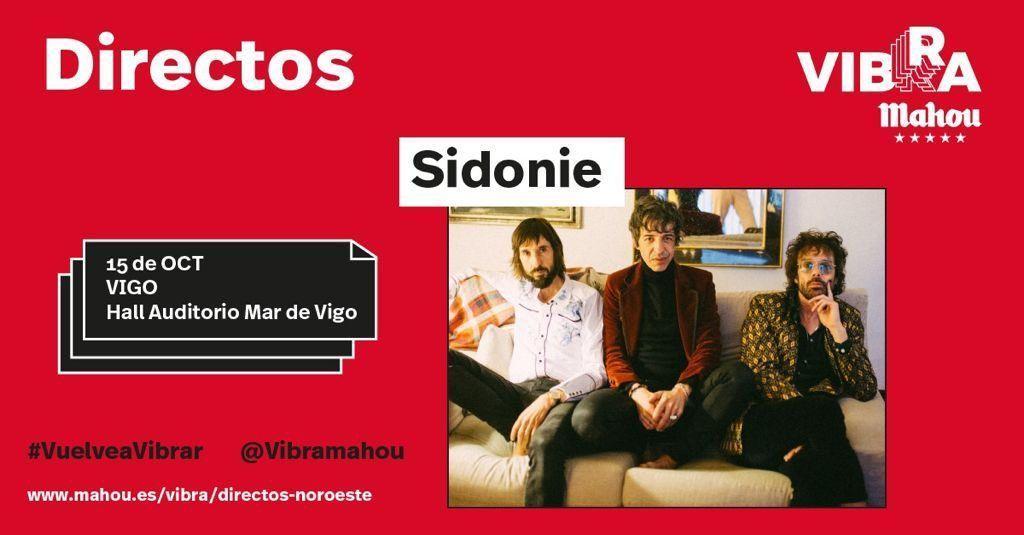 Cartel del concierto de Sidonie en Vigo el 15 de octubre