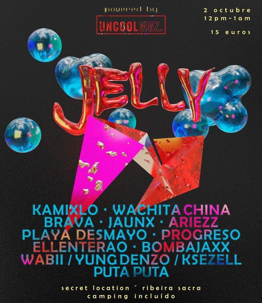 Cartel oficial del Jelly corregido con la sutitución de Toccororo por Brava DJ
